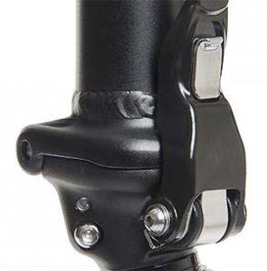 Die Q-Lock™ Lenksäule ist sicher und belastbar.