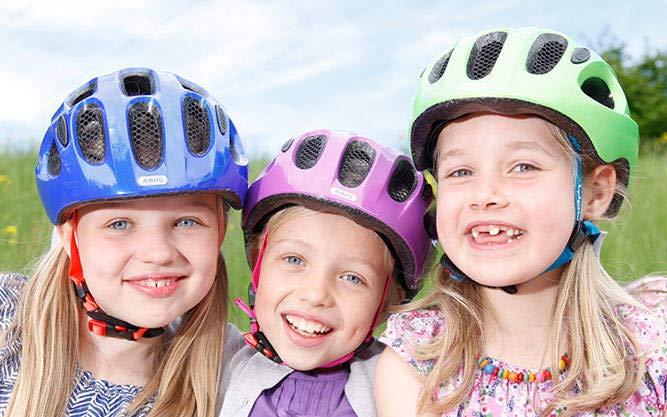 "Abus Fahrradhelme für Kids z.B. ""Young-I"" (sparkling/velvet/polar)"